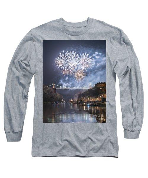 Clifton Suspension Bridge Fireworks Long Sleeve T-Shirt