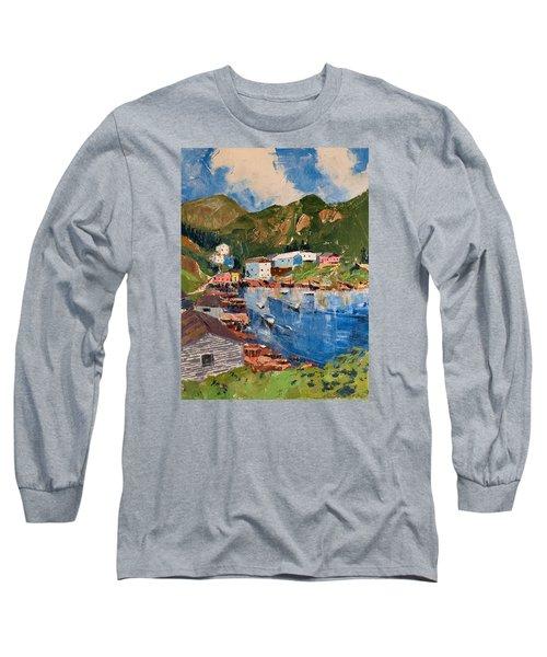 Coastal Village, Newfoundland Long Sleeve T-Shirt