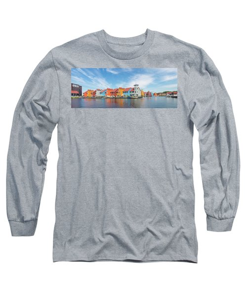 Colorful Buildings Long Sleeve T-Shirt by Hans Engbers