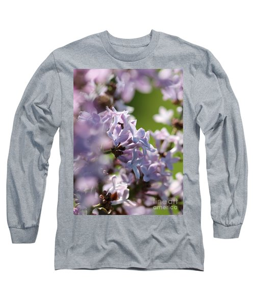 Common Purple Lilac Long Sleeve T-Shirt by J McCombie