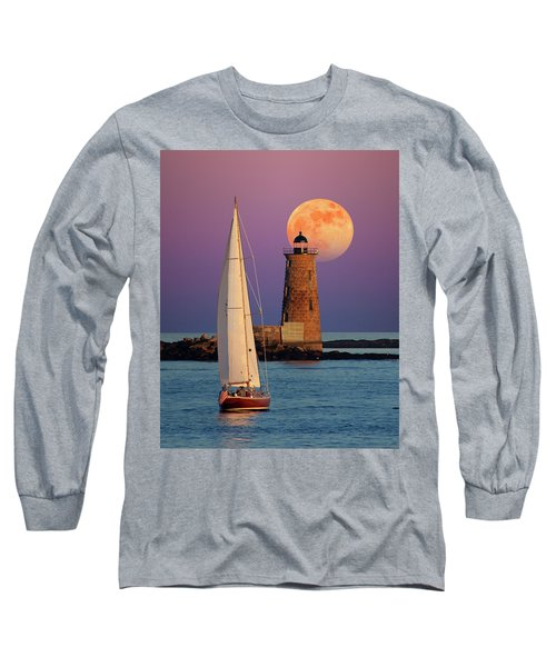 Long Sleeve T-Shirt featuring the photograph Convergence by Larry Landolfi