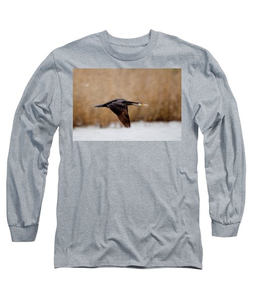 Cormorant In Flight Long Sleeve T-Shirt