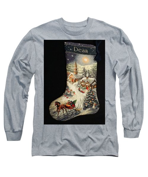 Long Sleeve T-Shirt featuring the photograph Cross-stitch Stocking by Farol Tomson