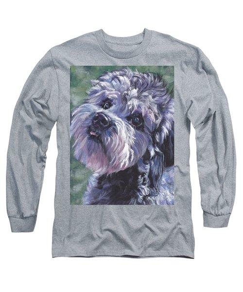 Long Sleeve T-Shirt featuring the painting Dandie Dinmont Terrier by Lee Ann Shepard