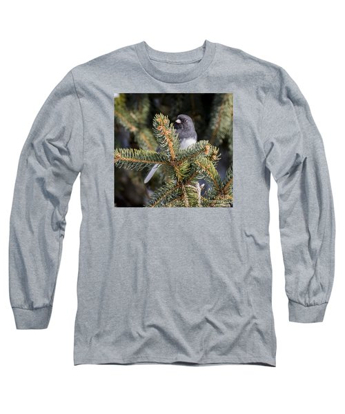 Long Sleeve T-Shirt featuring the photograph Dark-eyed Junco by Ricky L Jones