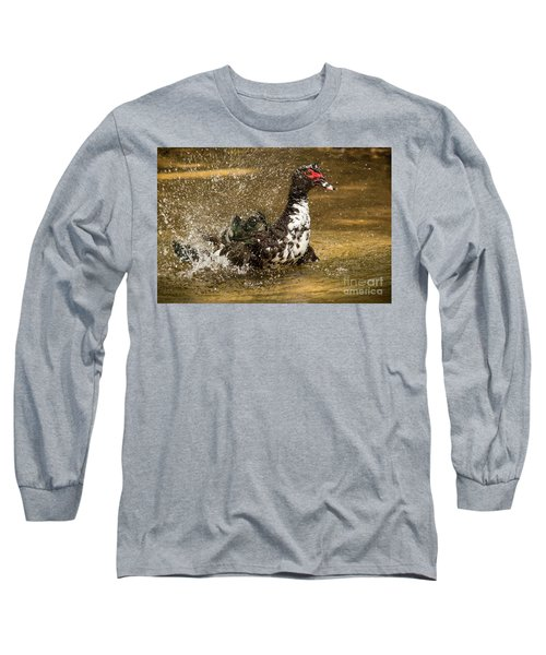 Does She See Me Yet? Wildlife Art By Kaylyn Franks Long Sleeve T-Shirt