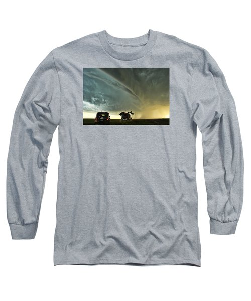 Long Sleeve T-Shirt featuring the photograph Dominating The Storm by Ryan Crouse