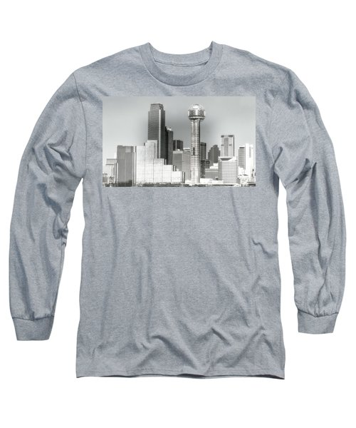 Long Sleeve T-Shirt featuring the photograph Downtown Dallas by Joan Bertucci