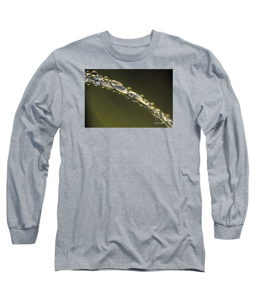 Drops On The Green Grass Long Sleeve T-Shirt by Odon Czintos