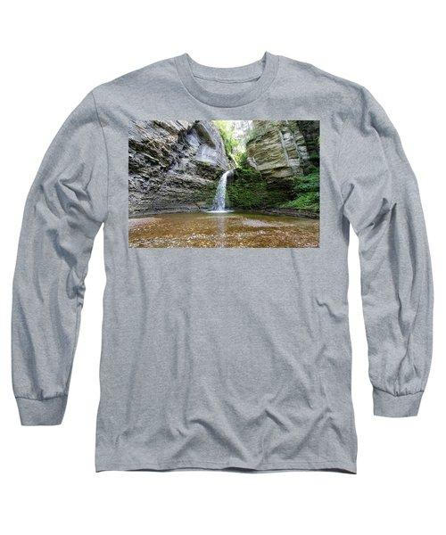 Eagle Cliff Falls In Ny Long Sleeve T-Shirt