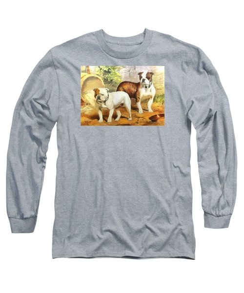 English Bulldogs Long Sleeve T-Shirt by Charmaine Zoe