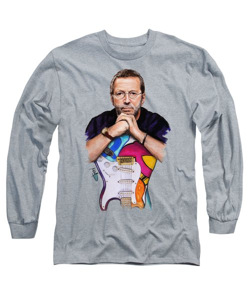 Eric Clapton Long Sleeve T-Shirt by Melanie D