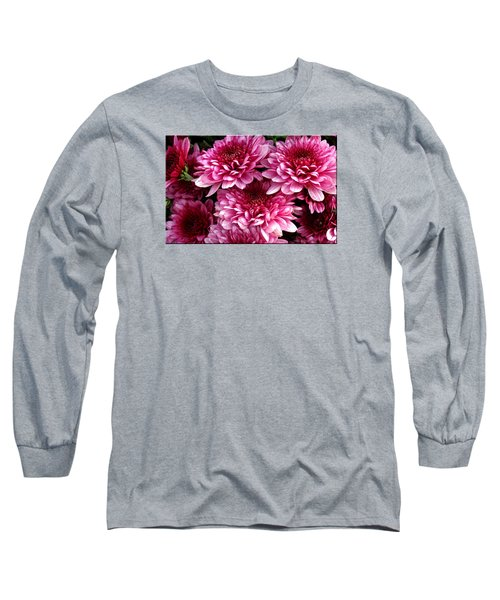 Fall Flowers Long Sleeve T-Shirt by Mikki Cucuzzo