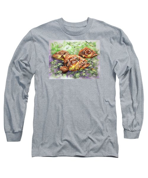 Long Sleeve T-Shirt featuring the painting Fish Bowl by William Love