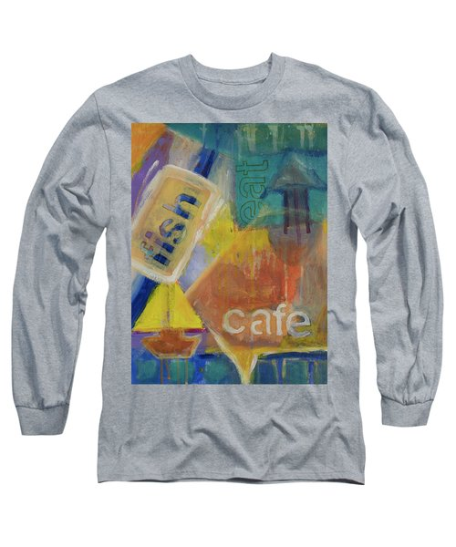 Long Sleeve T-Shirt featuring the painting Fish Cafe by Susan Stone