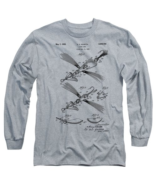 Fish Lure Patent 1933 Long Sleeve T-Shirt by Chris Smith
