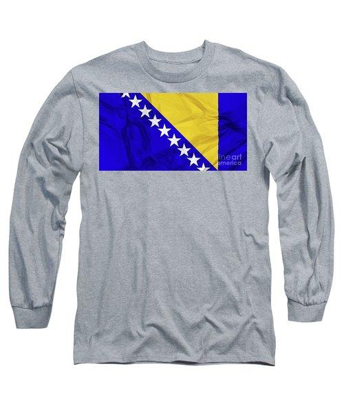 Flag Of Bosnia Long Sleeve T-Shirt