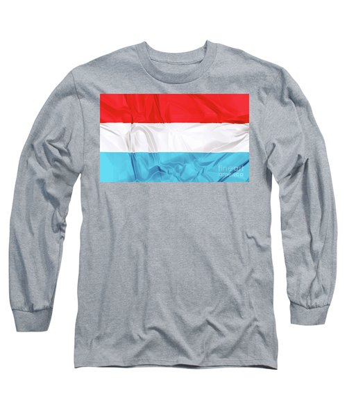 Flag Of Luxembourg Long Sleeve T-Shirt