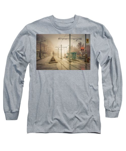 Fog Deserted Street Long Sleeve T-Shirt