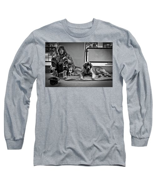 For The Love Of Dog Long Sleeve T-Shirt by Sonny Marcyan