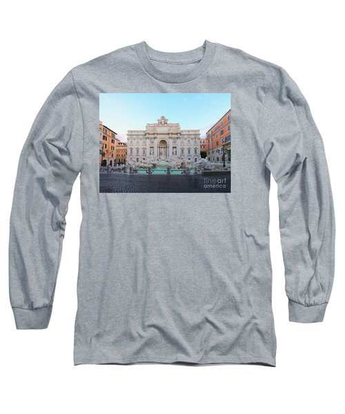 Fountain Di Trevi And Sunrise, Rome Long Sleeve T-Shirt
