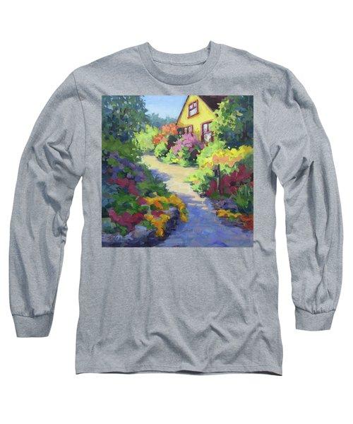 Garden Path Long Sleeve T-Shirt by Karen Ilari
