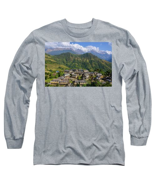 Ghandruk Village In The Annapurna Region Long Sleeve T-Shirt