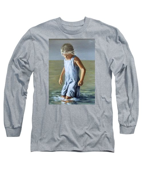 Long Sleeve T-Shirt featuring the painting Girl by Natalia Tejera