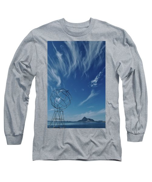 Globe Symbol View  On Sky Background In Norway Long Sleeve T-Shirt