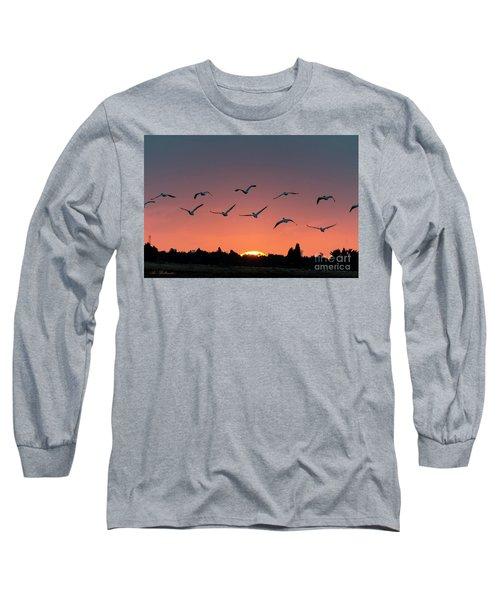 Long Sleeve T-Shirt featuring the photograph Go West by Arik Baltinester