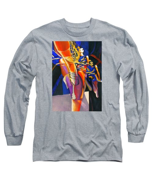 Long Sleeve T-Shirt featuring the painting Golden Steps by Georg Douglas