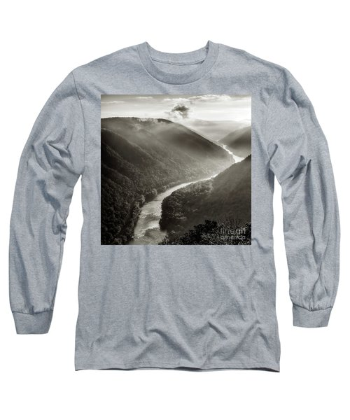 Grandview In Black And White Long Sleeve T-Shirt