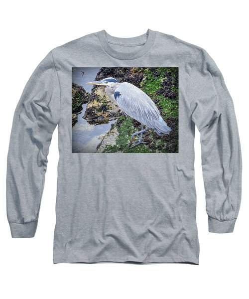 Long Sleeve T-Shirt featuring the photograph Great Blue Heron by AJ Schibig