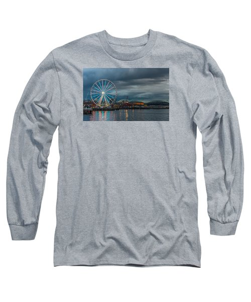 Great Wheel Long Sleeve T-Shirt by Jerry Cahill