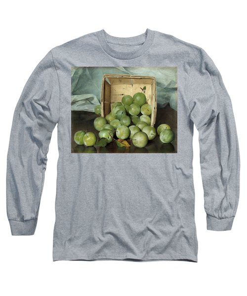 Green Plums Long Sleeve T-Shirt
