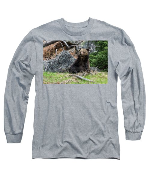 Grizzly Manor Long Sleeve T-Shirt by Scott Warner