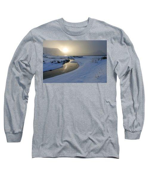 Haukland Beach, Lofoten Long Sleeve T-Shirt by Dubi Roman