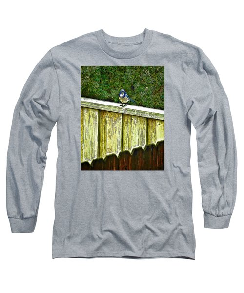 Hiding In Safety Long Sleeve T-Shirt by Nancy Marie Ricketts