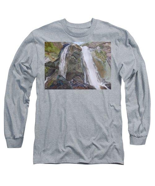 Long Sleeve T-Shirt featuring the painting High Shoals Falls by Joel Deutsch