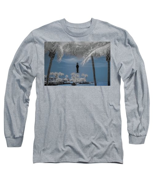 Long Sleeve T-Shirt featuring the photograph Hillsboro Inlet Lighthouse by Louis Ferreira