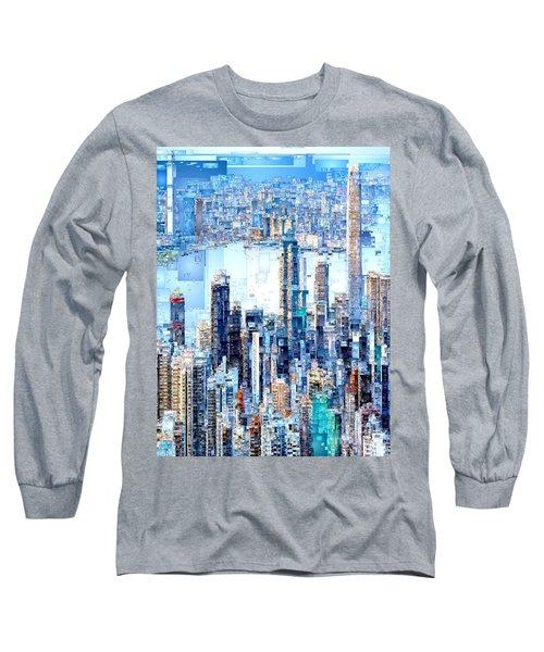 Hong Kong Skyline Long Sleeve T-Shirt