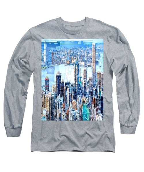 Hong Kong Skyline Long Sleeve T-Shirt