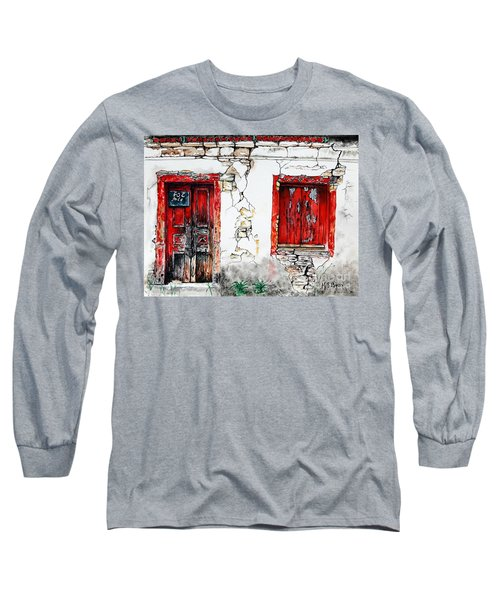 House For Sale Long Sleeve T-Shirt by Maria Barry