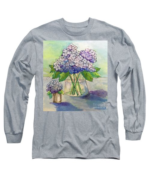 Hydrangea  Long Sleeve T-Shirt by Rosemary Aubut