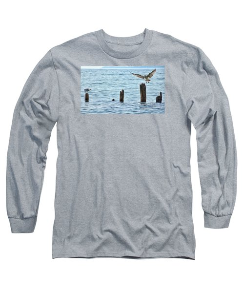 Long Sleeve T-Shirt featuring the photograph In Flight by Nikki McInnes