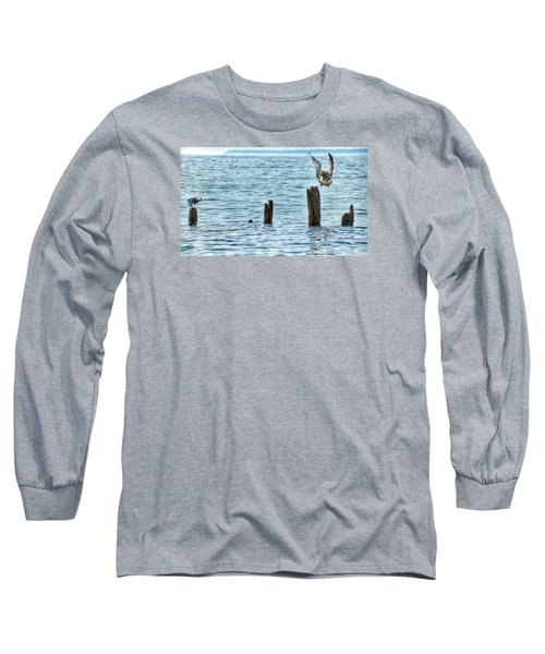 Long Sleeve T-Shirt featuring the photograph Incoming by Nikki McInnes