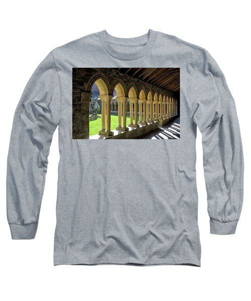 Iona Abbey Scotland Long Sleeve T-Shirt by Jacqi Elmslie