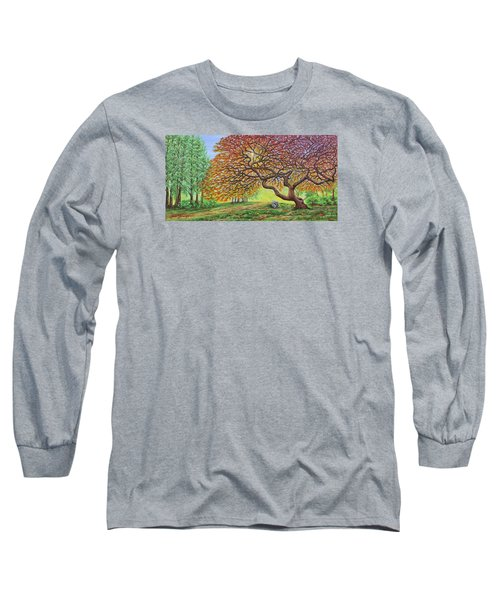 Japanese Maple Long Sleeve T-Shirt by Jane Girardot