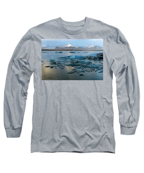 Long Sleeve T-Shirt featuring the photograph Jokulsarlon, The Glacier Lagoon, Iceland 5 by Dubi Roman
