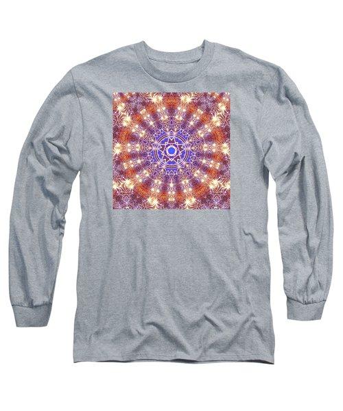 Long Sleeve T-Shirt featuring the digital art Jyoti Ahau 10 by Robert Thalmeier